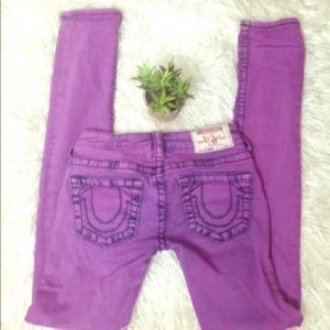 True religion Purple skinny jean